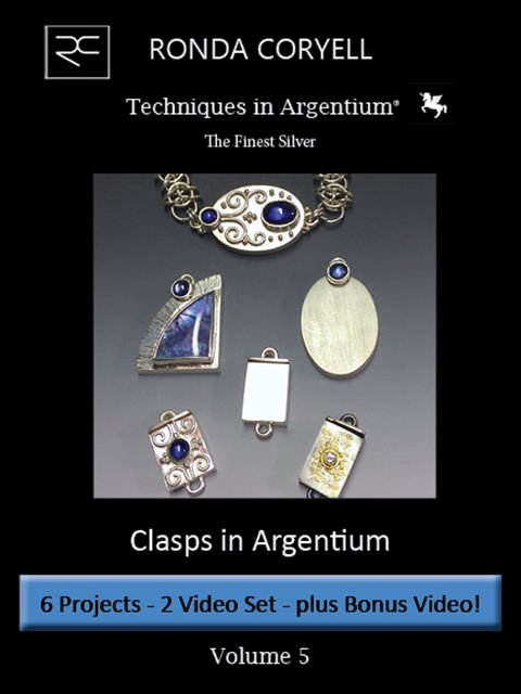 1.05 - Techniques in Argentium® Vol 5: Clasps - Two parts PLUS Bonus